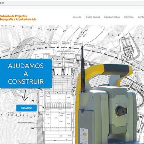Website GPMP - Gabinete de Topografia e Arquitectura em Viseu