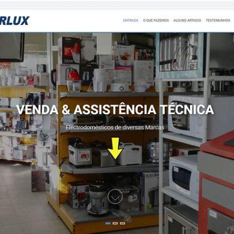 Website Loja Eletrodomésticos LARLUX em Sernancelhe