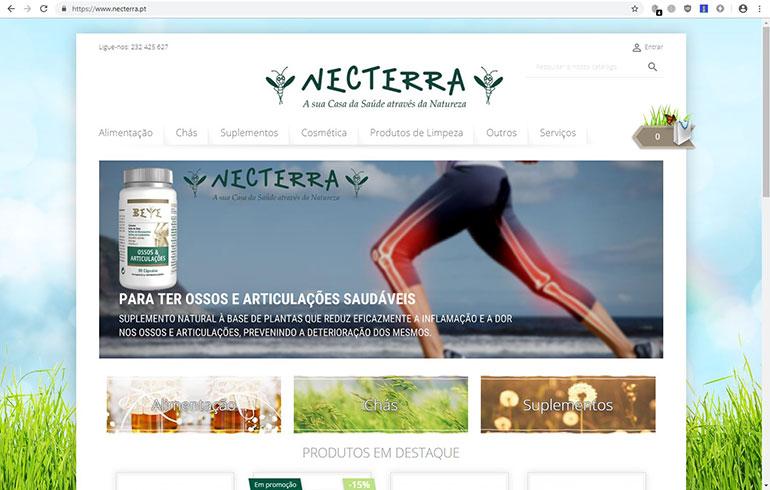 Comércio Eletrónico Loja Online Necterra em Viseu