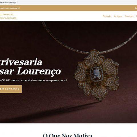 Website Ourivesaria César Lourenço em Sernancelhe