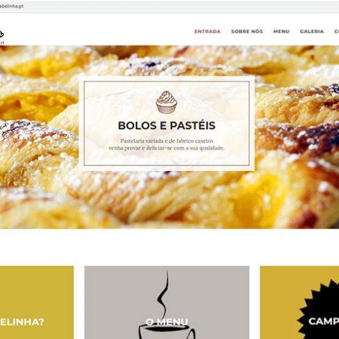 Website Pastelaria Belinha em Viseu