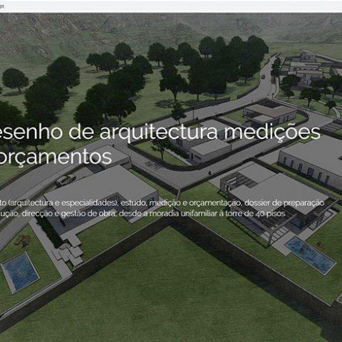 Website Gabinete Desenho de Arquitectura, Medições e Orçamentos em Sernancelhe