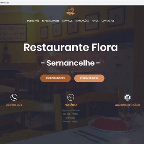Website Restaurante Flora em Sernancelhe