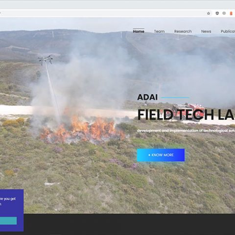 Serviços - website Field Tech Lab
